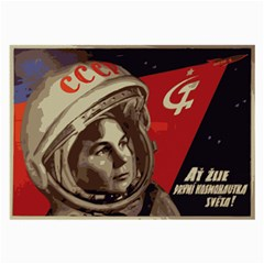 Soviet Union In Space Glasses Cloth (large, Two Sided)