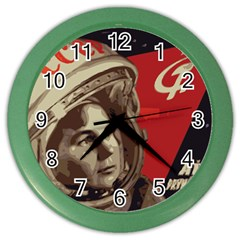 Soviet Union In Space Wall Clock (Color)