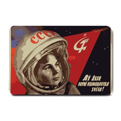 Soviet Union In Space Small Door Mat