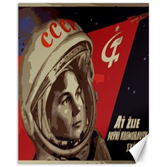 Soviet Union In Space Canvas 11  X 14  (unframed)