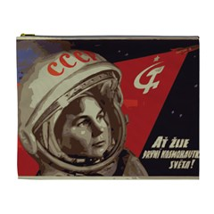 Soviet Union In Space Cosmetic Bag (xl)