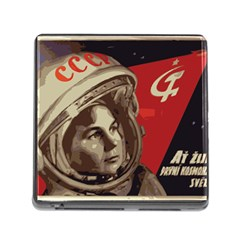 Soviet Union In Space Memory Card Reader with Storage (Square)