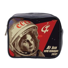 Soviet Union In Space Mini Travel Toiletry Bag (Two Sides)