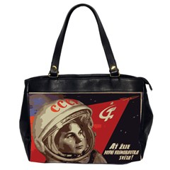 Soviet Union In Space Oversize Office Handbag (two Sides)