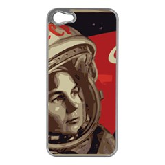 Soviet Union In Space Apple iPhone 5 Case (Silver)