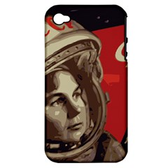 Soviet Union In Space Apple iPhone 4/4S Hardshell Case (PC+Silicone)