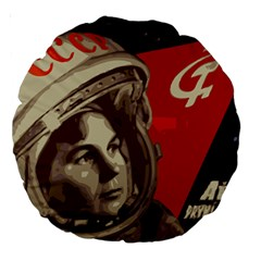Soviet Union In Space 18  Premium Round Cushion