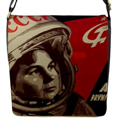 Soviet Union In Space Flap closure messenger bag (Small)