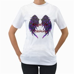 Angelintraining Womens  T-shirt (White)