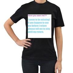 missinglol Womens' T-shirt (Black)