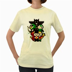 The League  Womens  T Shirt (yellow)