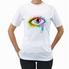 Window to the soul Womens  T-shirt (White)