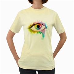 Window to the soul  Womens  T-shirt (Yellow)