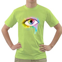 Window To The Soul Mens  T Shirt (green)