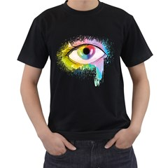 Window to the soul Mens' Two Sided T-shirt (Black)