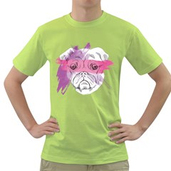 Pug Mens  T-shirt (Green)