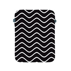 Black And White Wave Pattern Apple Ipad 2/3/4 Protective Soft Case