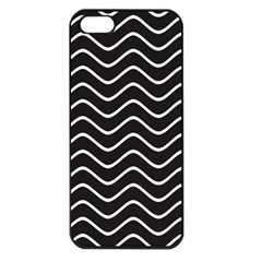 Black and White Wave Pattern Apple iPhone 5 Seamless Case (Black)