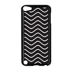 Black And White Wave Pattern Apple Ipod Touch 5 Case (black)