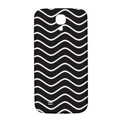 Black And White Wave Pattern Samsung Galaxy S4 I9500/i9505  Hardshell Back Case
