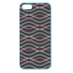 Black And Pink Waves Pattern Apple Seamless iPhone 5 Case (Color)