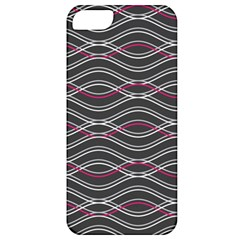 Black And Pink Waves Pattern Apple iPhone 5 Classic Hardshell Case