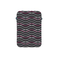 Black And Pink Waves Pattern Apple iPad Mini Protective Soft Case