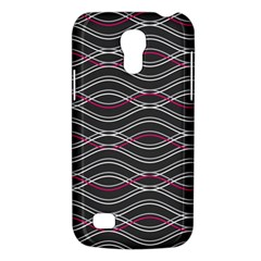 Black And Pink Waves Pattern Samsung Galaxy S4 Mini Hardshell Case
