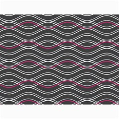Black And Pink Waves Pattern Canvas 36  x 48  (Unframed)