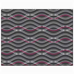 Black And Pink Waves Pattern Canvas 11  x 14  (Unframed)