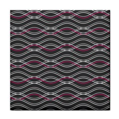 Black And Pink Waves Pattern Face Towel