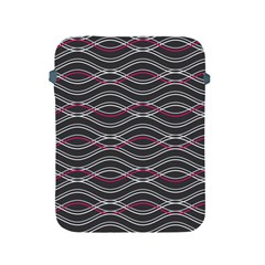 Black And Pink Waves Pattern Apple iPad 2/3/4 Protective Soft Case