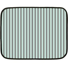 Light Green And Grey Strip Copy Mini Fleece Blanket (Two Sided)