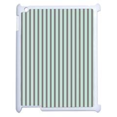 Light Green And Grey Strip Copy Apple Ipad 2 Case (white)