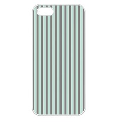 Light Green And Grey Strip Copy Apple iPhone 5 Seamless Case (White)