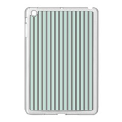 Light Green And Grey Strip Copy Apple Ipad Mini Case (white)