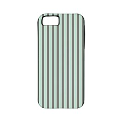 Light Green And Grey Strip Copy Apple iPhone 5 Classic Hardshell Case (PC+Silicone)