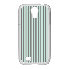 Light Green And Grey Strip Copy Samsung Galaxy S4 I9500/ I9505 Case (white)