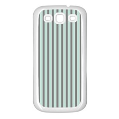 Light Green And Grey Strip Copy Samsung Galaxy S3 Back Case (White)