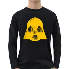 Danger (yellow) Mens' Long Sleeve T Shirt (dark Colored)