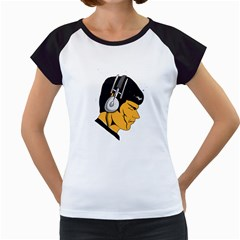 Space Beats Women s Cap Sleeve T-Shirt (White)