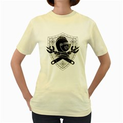 The Seal  Womens  T-shirt (Yellow)