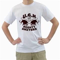 Cavemen baseball Mens  T-shirt (White)