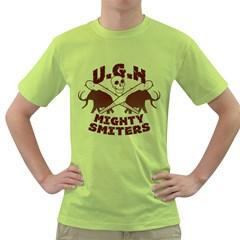 Cavemen baseball Mens  T-shirt (Green)