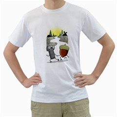Odd Pair Mens  T-shirt (White)