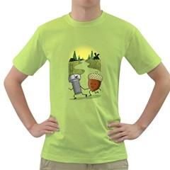 Odd Pair Mens  T Shirt (green)