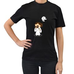 Taking a break from the Empire Womens' Two Sided T-shirt (Black)