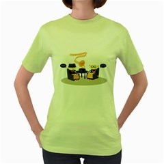 Old Skool Womens  T Shirt (green)