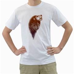 leo fantasy Mens  T-shirt (White)