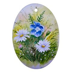 Meadow Flowers Ornament (Oval)